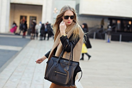 Carolinaengman-celine bag- camel coat with leather sleeves- womens street style