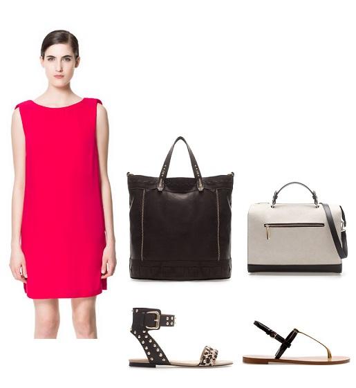 look informal working vestido rojo