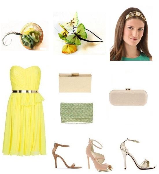 look vestido amarillo boda 1