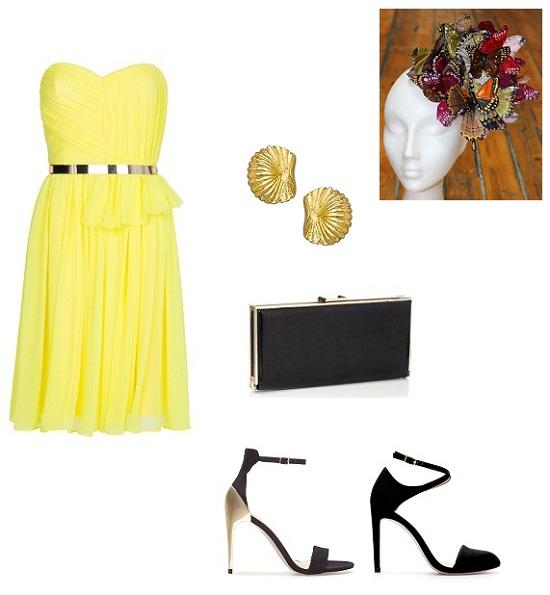 look vestido amarillo boda 2