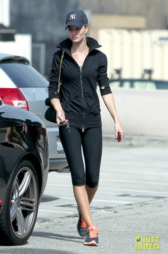 *EXCLUSIVE* Rosie Huntington at her gym.