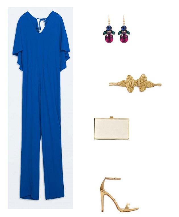 look boda noche mono azul