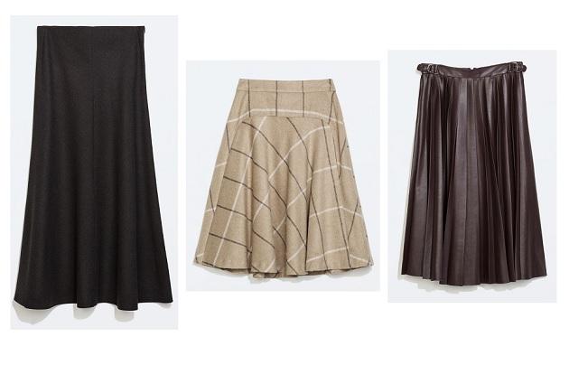 faldas midi invierno shopping