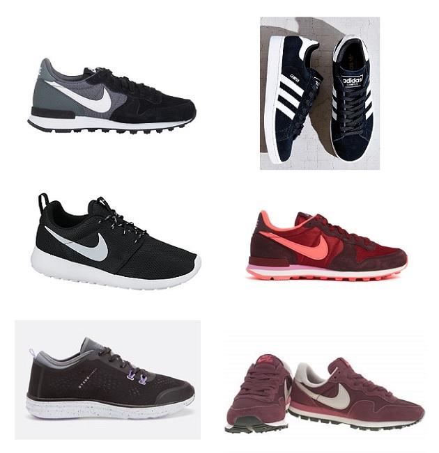 shopping sneakers oscuras