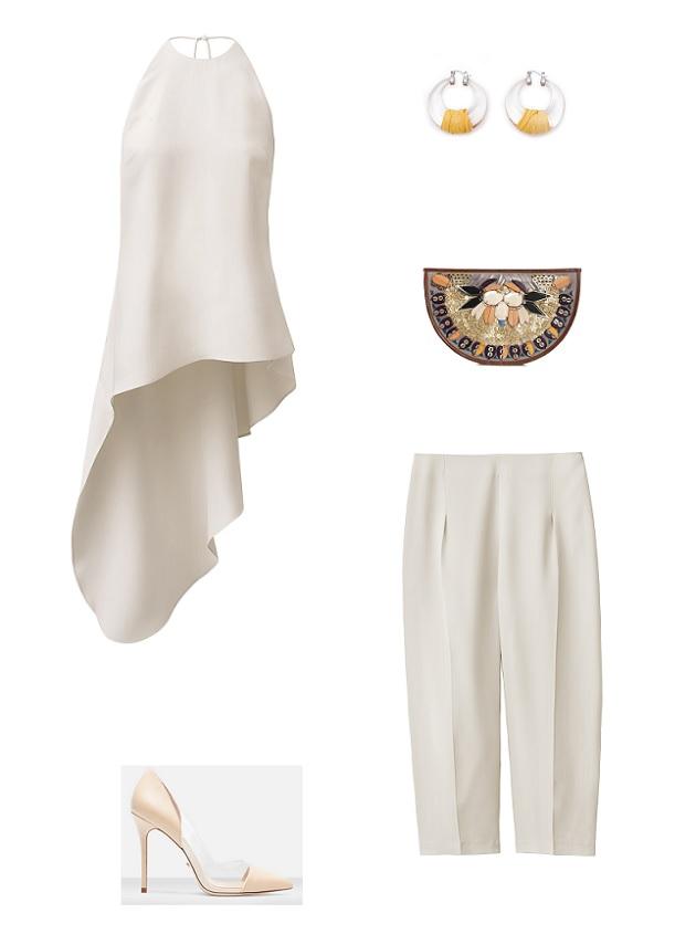 look blusa pantalón H&M Conscious Collection