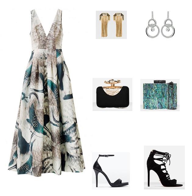 look vestido largo H&M conscious collection