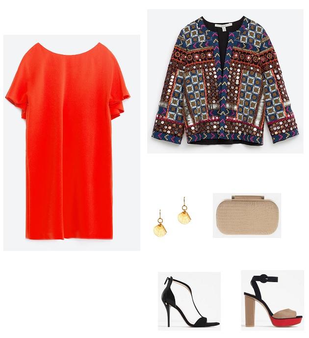 look comunión vestido rojo