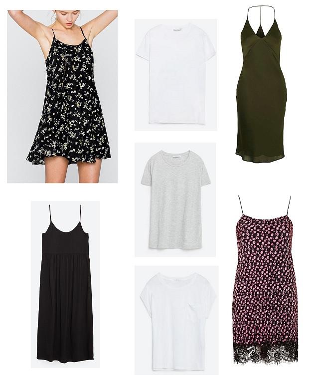 shopping slip dress tee