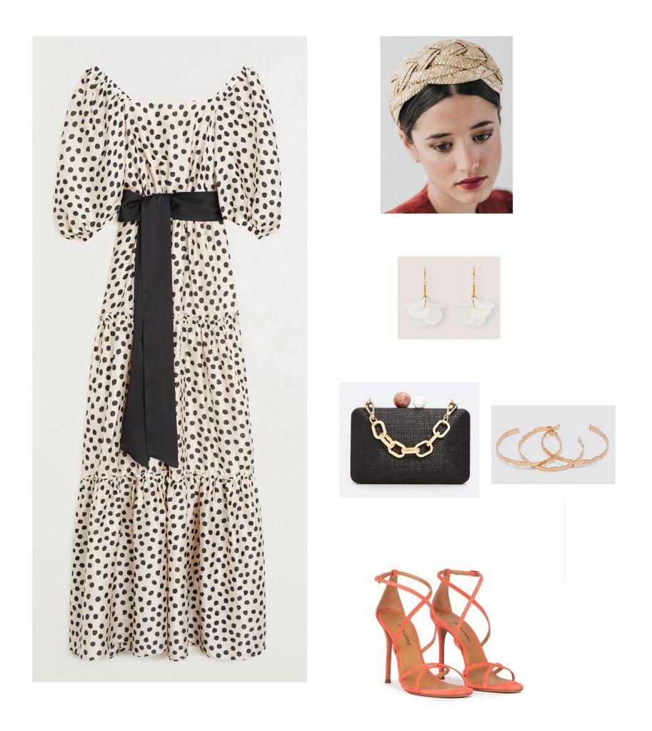 look-invitada-vestido-lunares-mango