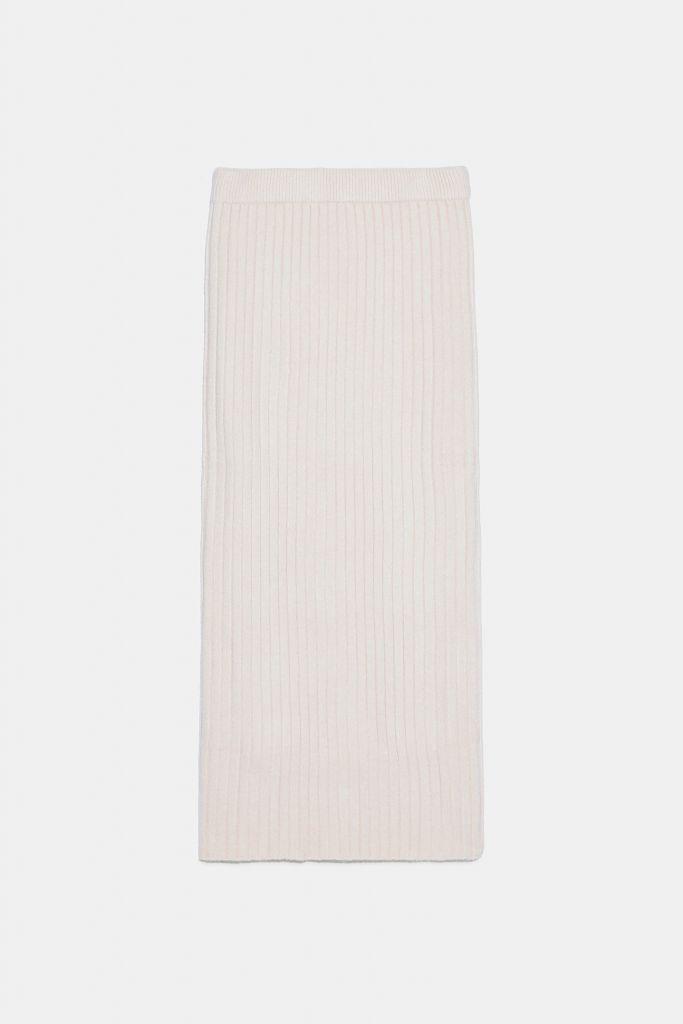 falda punto zara