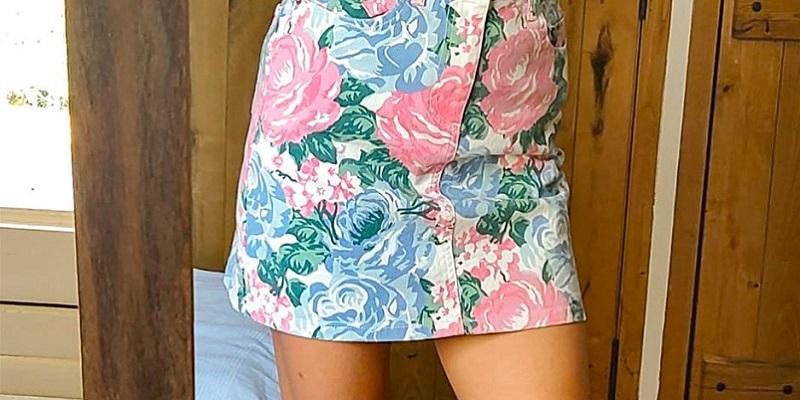 falda-vaquera-floral-rouje