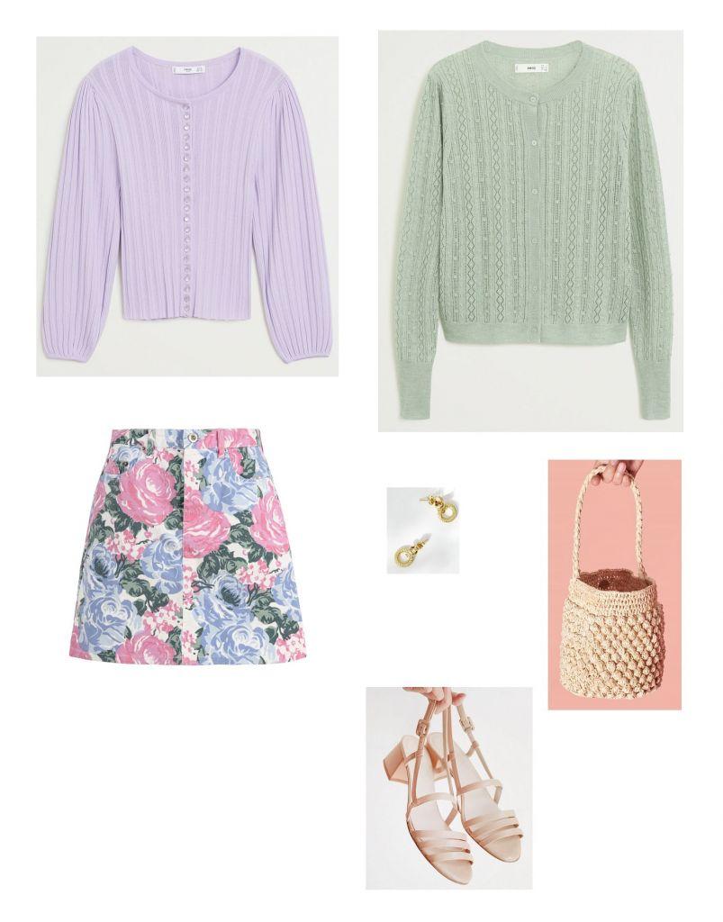 look-falda-vaquera-floral-rouje