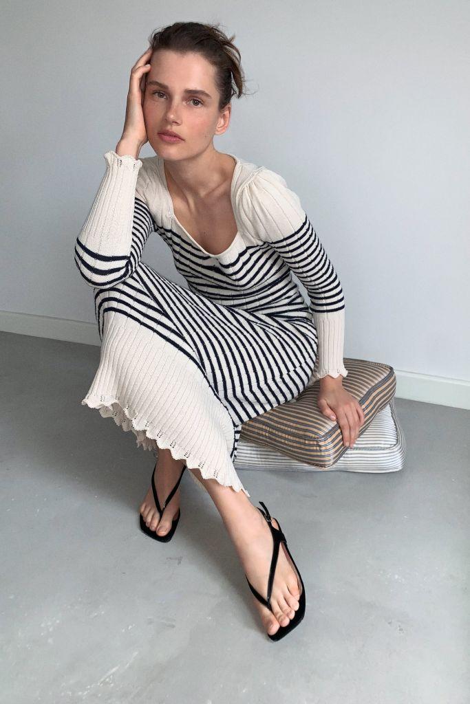vestido-punto-rayas-Zara