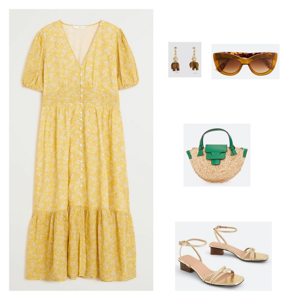 look-vestido-floral-amarillo-mango