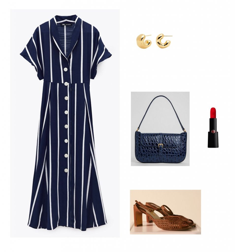 look-vestido-azul-rayas-zara