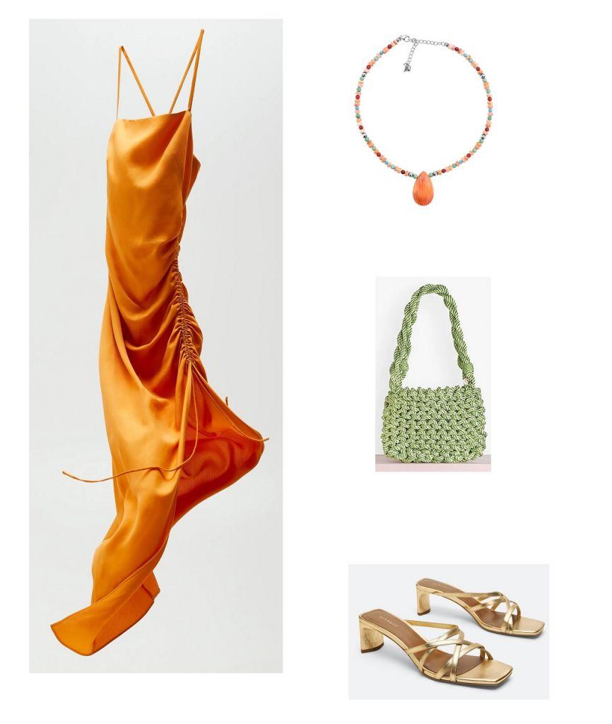 look-vestido-naranja-zara