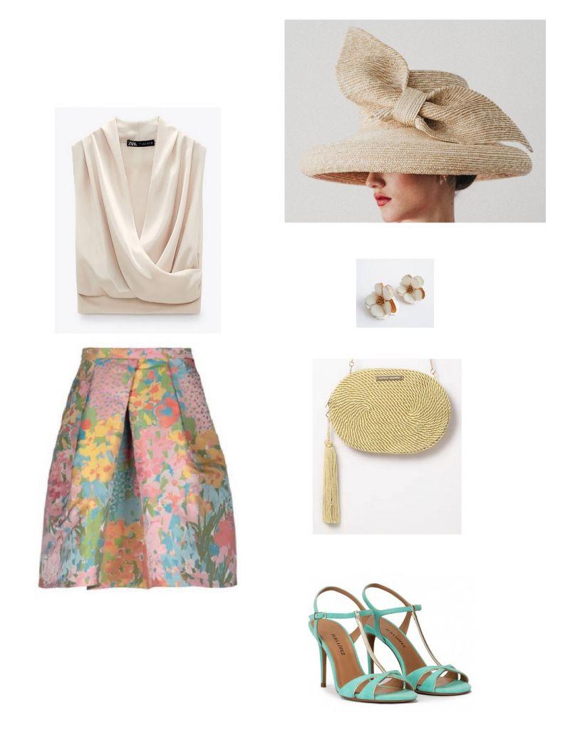 look-invitada-falda-floral