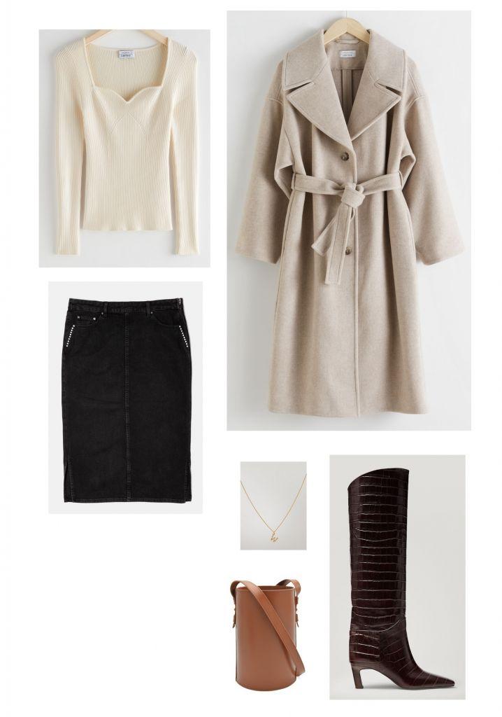 Looks-con-falda-vaquera-negra-midi