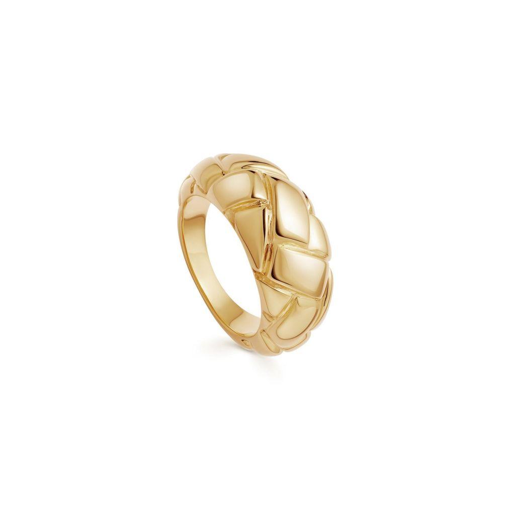 anillos-chunky-dorados-tendencias