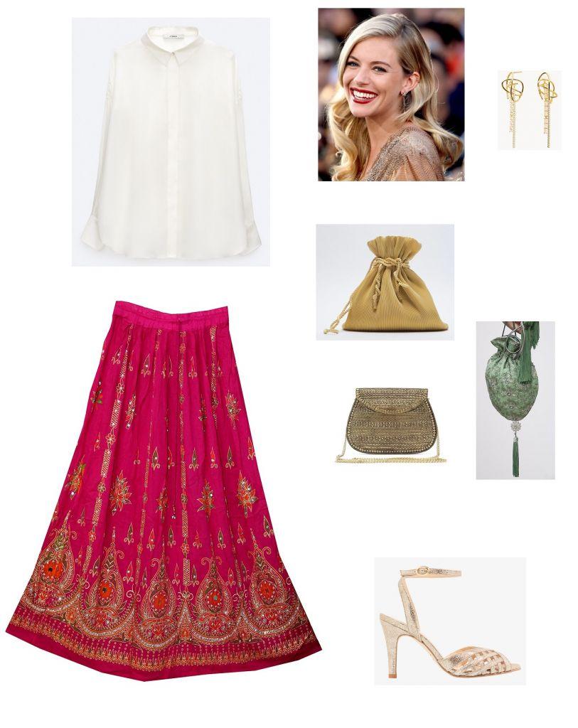 look-invitada-falda-india