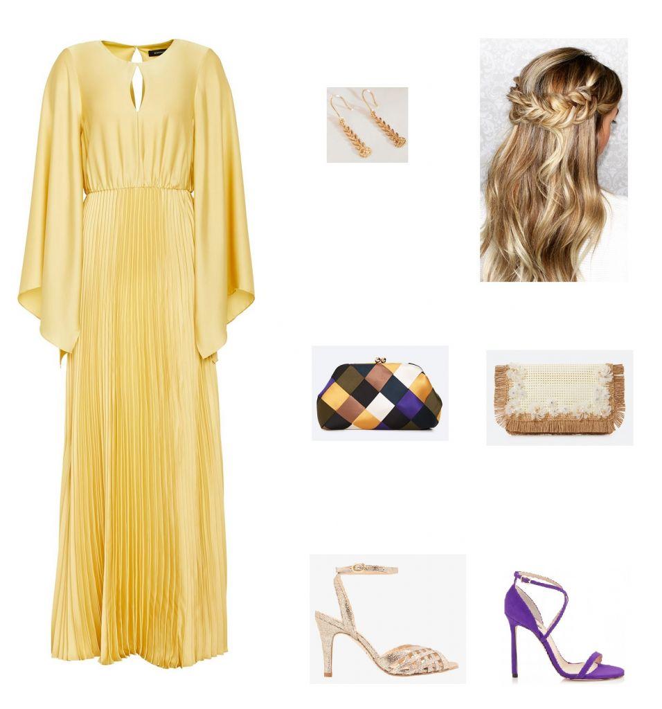 look-invitada-vestido-satén-amarillo