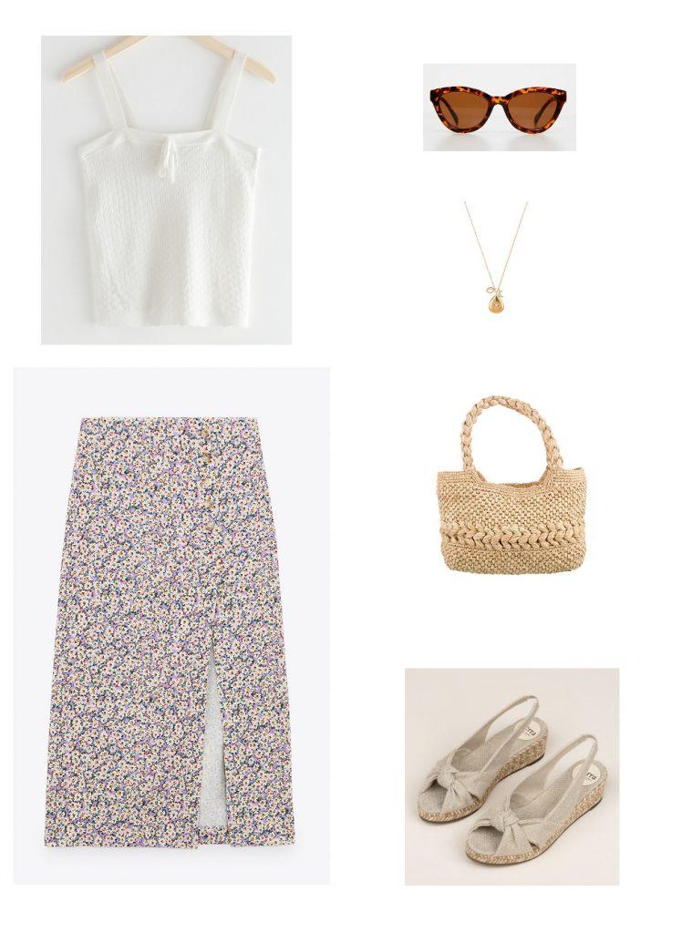 looks-verano-camiseta-top-falda-midi-estampada