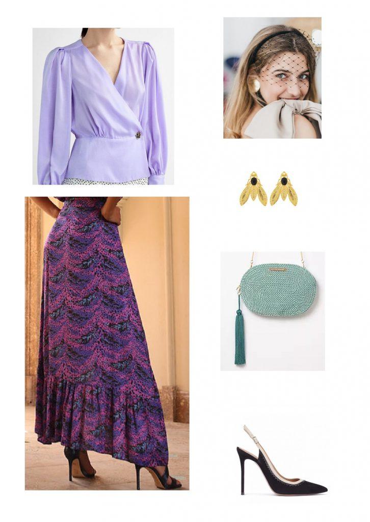 look-invitada-blusa-lila