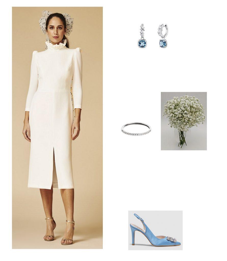 Look de novia vestido corto