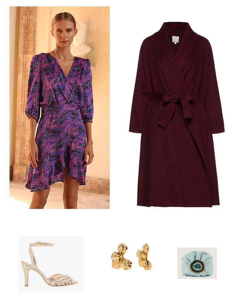 look-invitada-vestido-estampado-púrpura